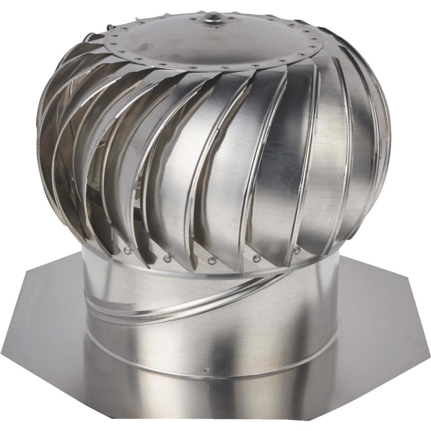 "Ventamatic Cool Attic 12"" Aluminum Mill Wind Turbine Attic Vent Image 1"