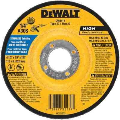 DeWalt HP Type 27 4-1 In. x 27/4 In. x 7/8 In. Stainless Grinding Cut-Off Wheel
