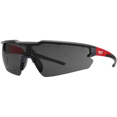 Milwaukee Red & Black Frame Safety Glasses with Tinted Fog-Free Lenses