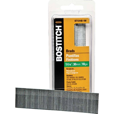 Bostitch 18-Gauge Coated Brad Nail, 1-3/16 In. (3000 Ct.)