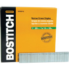 Bostitch 18-Gauge Galvanized Narrow Crown Finish Staple, 7/32 In. x 1 In. (5000 Ct.) Image 1