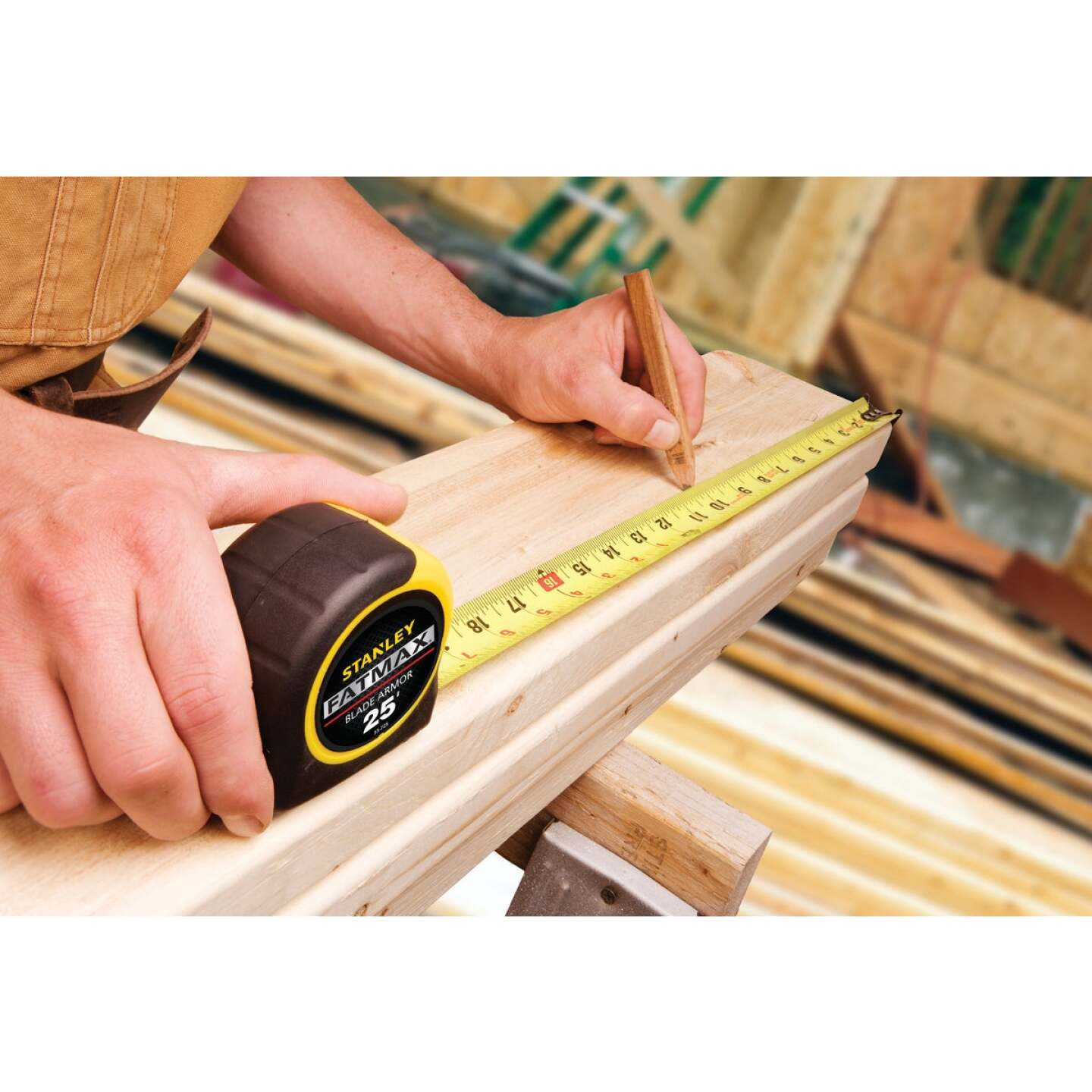 Stanley FatMax 25 Ft. Classic Tape Measure with 11 Ft. Standout Image 2