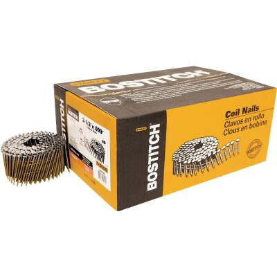 Bostitch 15 Degree Wire Weld Coated Coil Framing Nail, 2-1/2 In. x .099 In. (3600 Ct.)