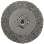 Weiler Vortec 8 In. Crimped Bench Grinder Wire Wheel Image 1