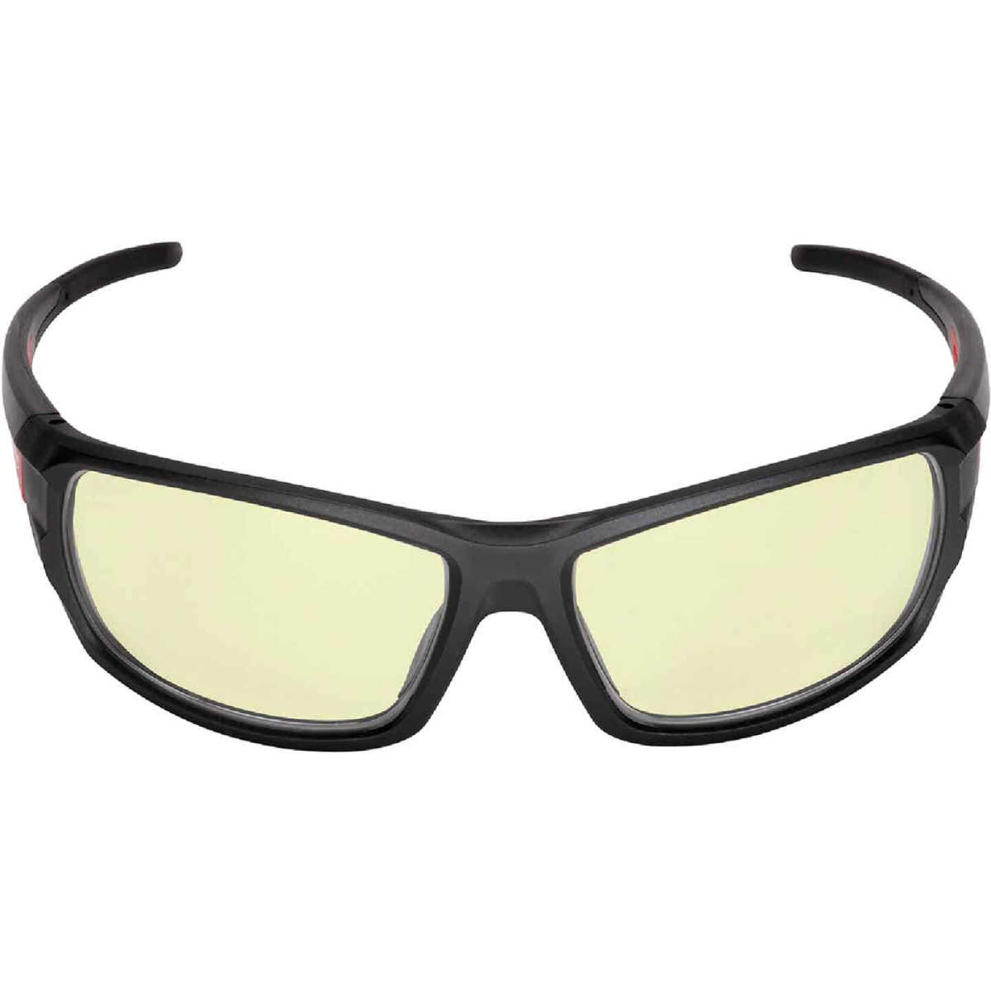 Milwaukee Performance Red & Black Frame Safety Glasses with Yellow Fog-Free Lenses Image 3