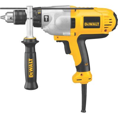 DeWalt 1/2 In. Keyed 10.0-Amp VSR Mid-Handle Grip Electric Hammer Drill