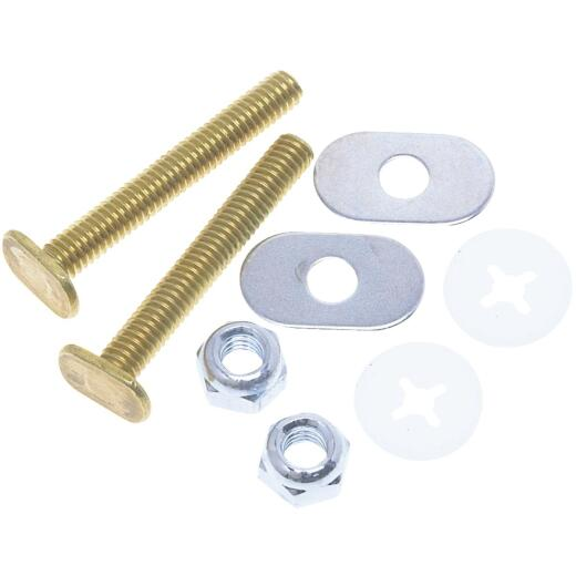 Do it 5/16 In. Brass Toilet Bolt Set
