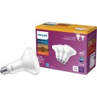 Philips Warm Glow 65W Equivalent Soft White BR30 Medium Dimmable LED Floodlight Light Bulb (3-Pack) Image 1