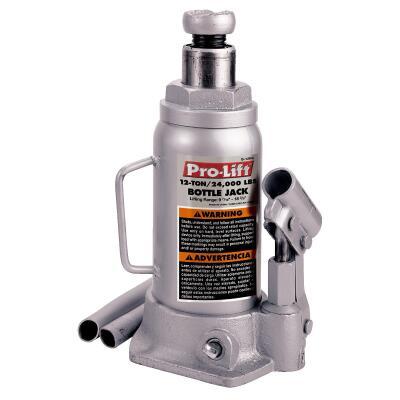 Pro-Lift 12-Ton Hydraulic Bottle Jack