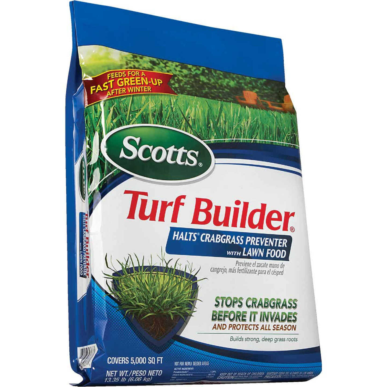 Scotts Turf Builder 13.35 Lb. 5000 Sq. Ft. 30-0-4 Lawn Fertilizer with Halts Crabgrass Preventer Image 6