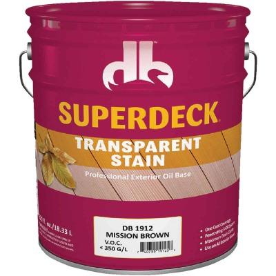 Duckback SUPERDECK Transparent Exterior Stain, Mission Brown, 5 Gal.
