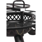 Big Horn 47 In. Camp Black Round Steel Fire Pit Image 5