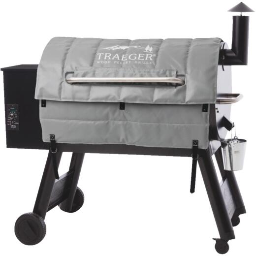 Traeger 35 In. Gray Polyester Insulated Blanket Grill Cover