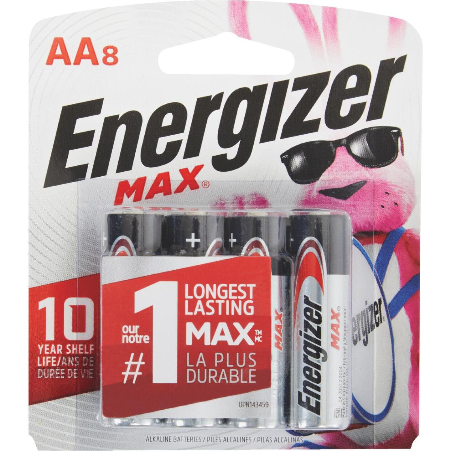 Energizer Max AA Alkaline Battery (8-Pack) Image 1